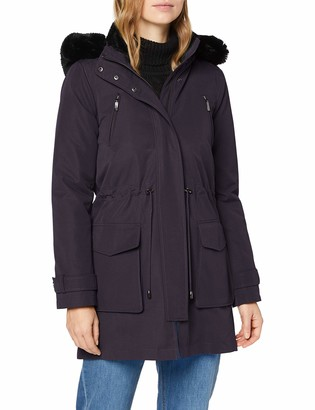 Meraki Amazon Brand Women's Parka Faux Fur Hooded Coat