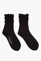 Comme des Garcons Black Jersey And Mesh a-pattern Socks