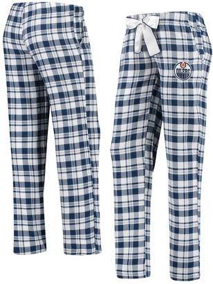 Women's Concepts Sport Navy/White Edmonton Oilers Piedmont Flannel Pants