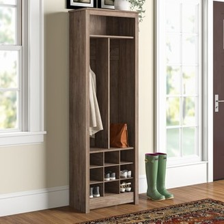 Three Posts Kahl Hall Tree and Shoe Storage Color: Drifted Gray