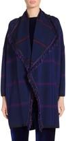 St. John Jacquard Plaid Knit Kimono Cardigan