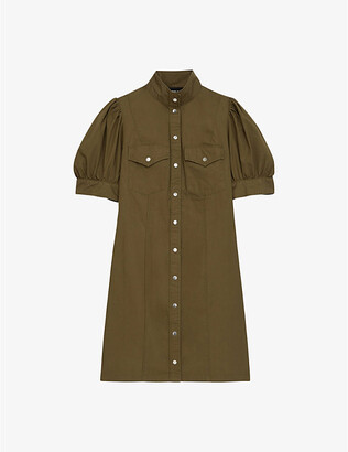 The Kooples Utility cotton mini dress