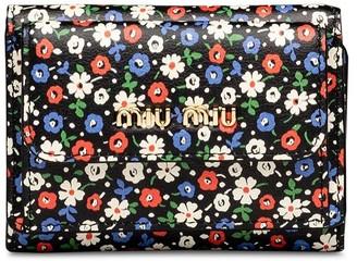 Miu Miu floral print mini wallet