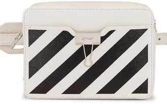 Off-White Off White Diagonal Camera Bag in White & Black   FWRD