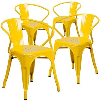 Bronx Joubert Stacking Patio Dining Chair Ivy Color: Yellow
