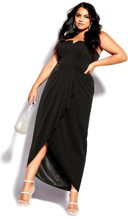City Chic Beloved Maxi Dress - black