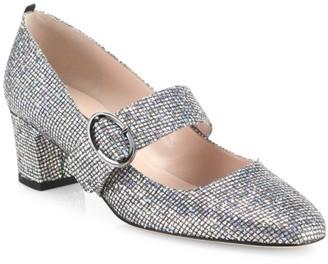 Sarah Jessica Parker Tartt Glitter Mary Jane Pumps