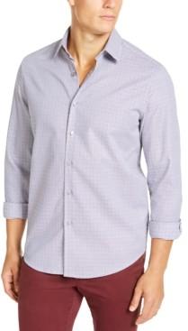 Tasso Elba Men's Stretch Dobby Woven Shirt, Created for Macy's