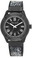 Vince Camuto Swarovski Crystal Silicon Strap Watch, VC5259BKBK