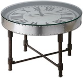 The Well Appointed House Riveted Vintage Clock Table