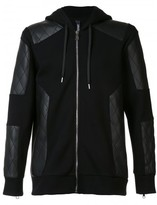 Neil Barrett quilted panel hoodie