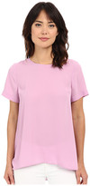 Vince Camuto Short Sleeve High-Low Hem Blouse