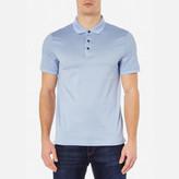Michael Kors Jacquard Polo Shirt Steel Blue
