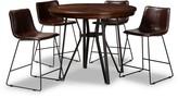 Baxton Studio Carvell Pub Dining Table & Chair 5-piece Set