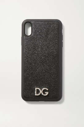 Dolce & Gabbana Crystal-embellished Textured-leather Iphone Xs Max Case - Black