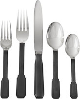 Ricci Art Deco 5-Piece Place Setting-Black