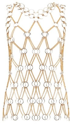 Paco Rabanne Chainmail Tank Top - Womens - Gold