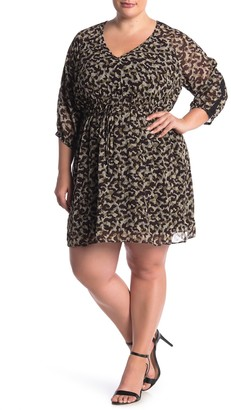 City Chic Entanglement Animal Print Dress (Plus Size)