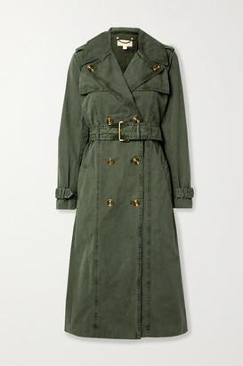 MICHAEL Michael Kors Madi Cotton-gabardine Trench Coat - Army green