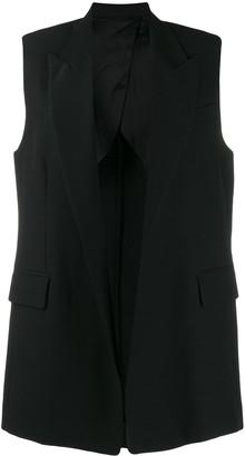 AMI Paris Sleeveless Long Blazer