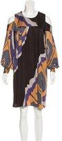 Issa Silk Cold-Shoulder Dress