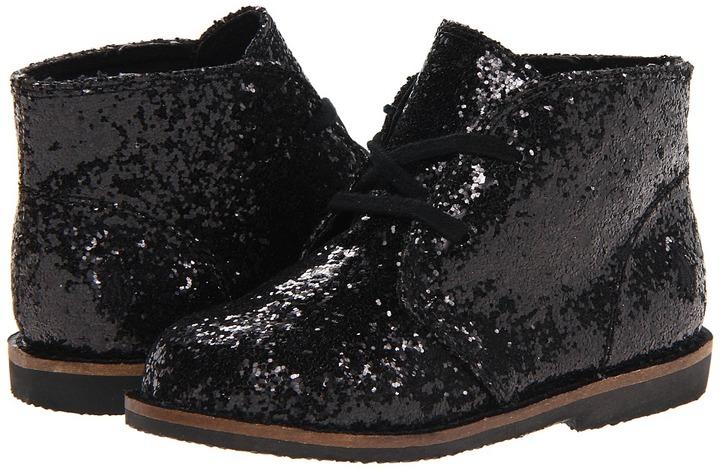 Ralph Lauren Kids - Carl (Infant/Toddler) (Black Glitter) - Footwear