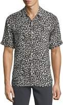 Ovadia & Sons Camp Leopard-Print Short-Sleeve Shirt