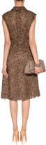 Valentino Bronze Color Lace Overlay Dress