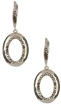 Judith Jack Sterling Silver Swarovski Marcasite Embellished Drop Earrings