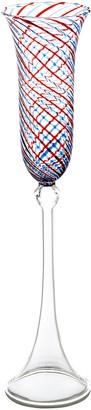 Abigails 725316 Blue & Red Swirl Champagne Flute