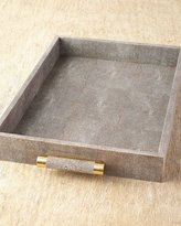 AERIN Chocolate Shagreen Rectangular Tray