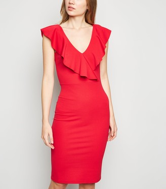 New Look Frill Bodycon Dress
