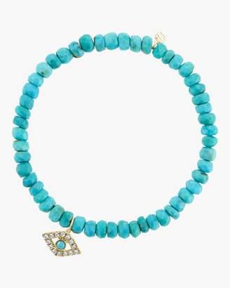 Sydney Evan Turquoise Bead Evil Eye Bracelet