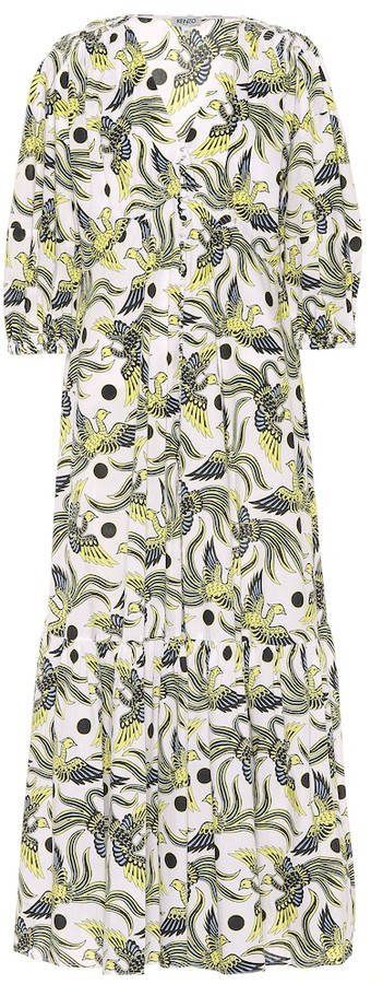 Kenzo Printed cotton midi dress