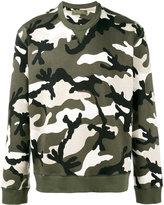 Valentino Rockstud camouflage sweatshirt - men - Cotton/Polyamide - M