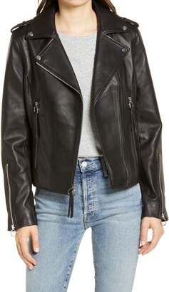 Sam Edelman Lambskin Leather Moto Jacket