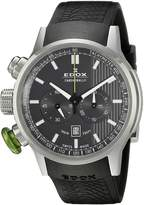 Edox Men's 10302 3V Gin Chronorally Analog Display Swiss Quartz Black Watch