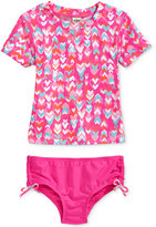 Osh Kosh 2-Pc. Heart-Print Rashguard Swim Set, Toddler & Little Girls (2T-6X)