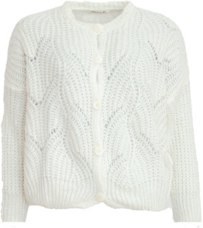 Sweet Like You - Buttoned Knitted Cardigan White - one size