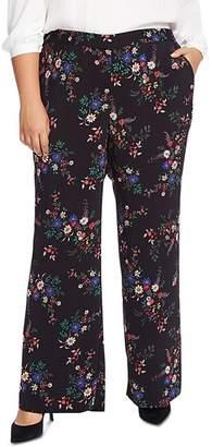 Vince Camuto Plus Country Bouquet Wide-Leg Pants