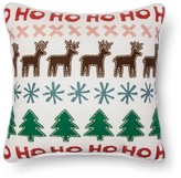 Threshold Sour Cream Reindeer tree Applique Toss Throw Pillow