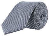 Burton Mens Montague Navy Fine Stripe Tie