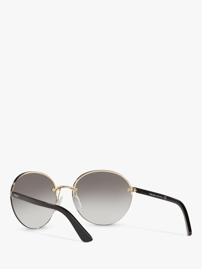 Thumbnail for your product : Prada PR 68VS Women's Heritage Oval Sunglasses, Gold/Grey Gradient