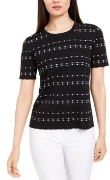 Alfani Textured Short-Sleeve Sweater, Created For Macy's