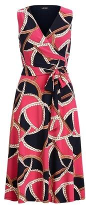 Ralph Lauren Print Tie-Waist Jersey Dress