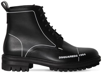 DSQUARED2 45MM LACE-UP LEATHER ANKLE BOOTS