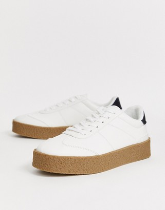Asos Design DESIGN retro sneakers in white with chunky sole