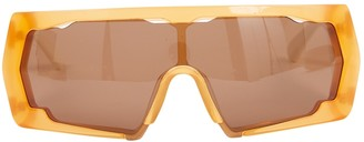 Ganni Orange Plastic Sunglasses
