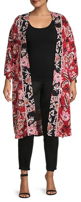 Bobeau Plus Tapestry Kimono
