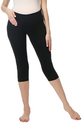 Kimi and Kai Eva Under the Belly Maternity Crop Leggings